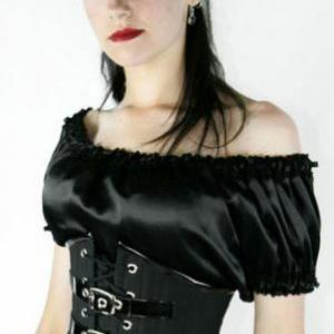 Sexy Black Gothic Corset with G-str..