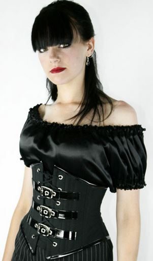 Sexy Black Gothic Corset with G-string
