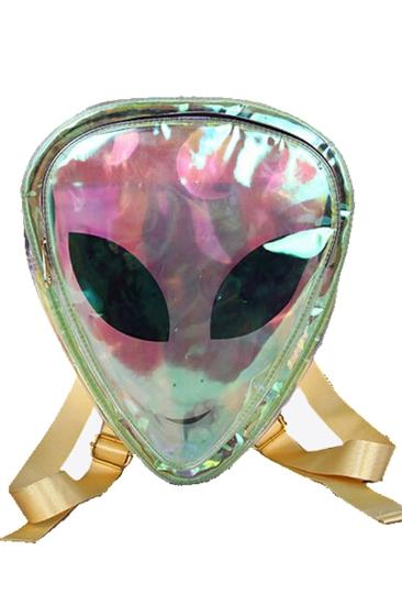 Clear Alien Holographic Backpack
